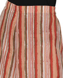 Enchanted Drapes Women's Red Stripes Cotton Palazzo
