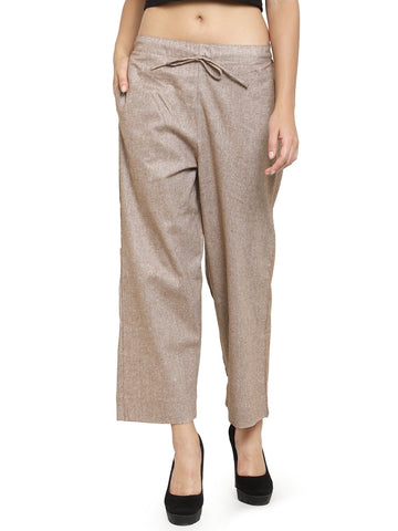 Enchanted Drapes Choclate Solid Women's Cotton Pants