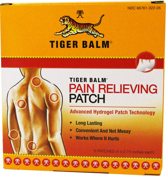 Pain Relieving Patch 5 Patches (4 X 2.75 inches each) | 虎标止痛贴膏 5贴