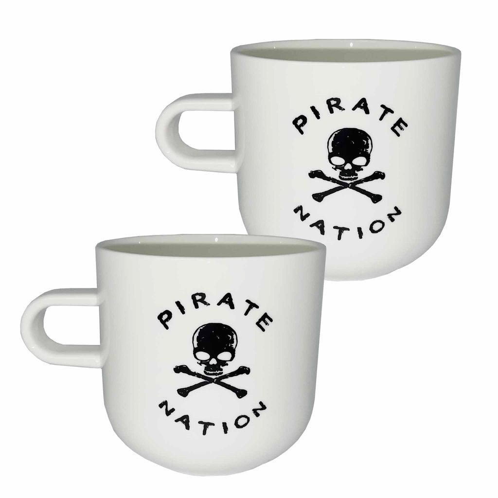 Pirate Nation 400ml Porcelain Mugs (2)