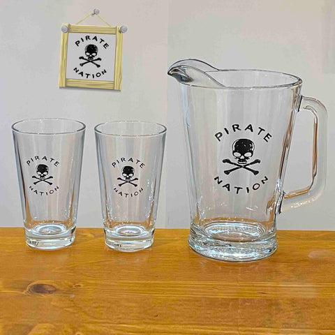 Beer Jug & Two Glasses