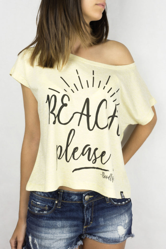 Off shoulder - Beach, please!