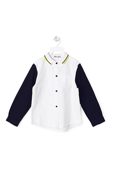 11f8c6fe0394 White shirt with navy blue sleeves – Cubmarks