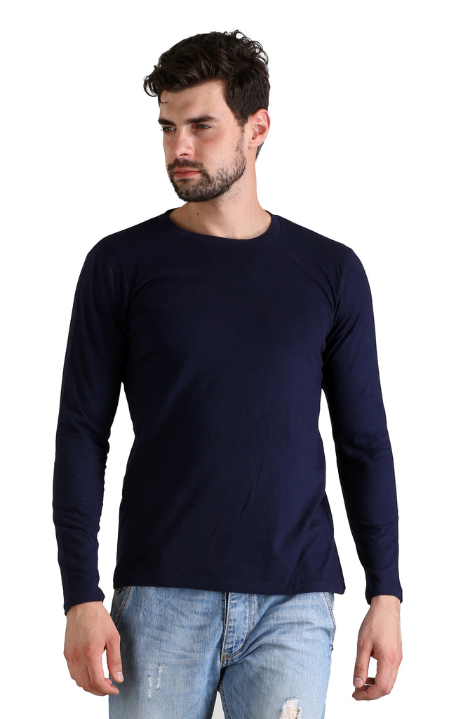b53b2894ae7 Plain Navy Blue T Shirt – Madbow