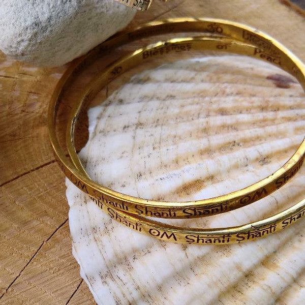 Om Shanti Bangle Brass