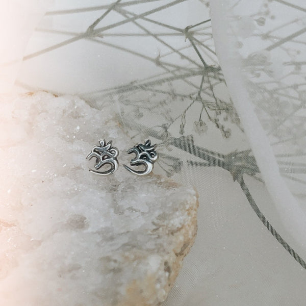Om earrings Sterling Silver