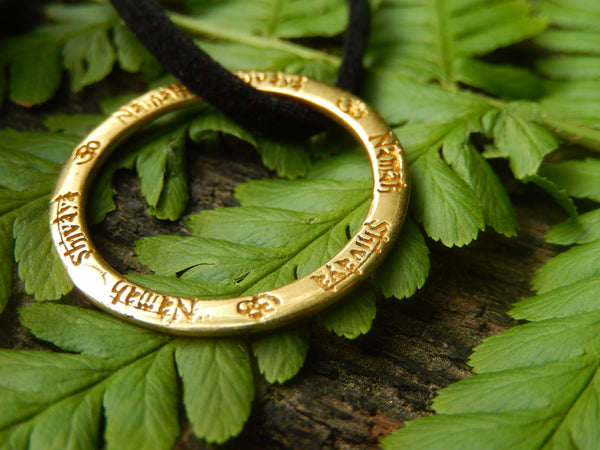 Mantra Necklace Brass