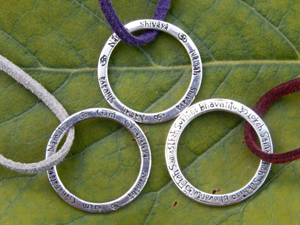 Mantra Necklace Silver