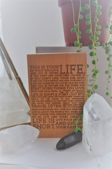 This Is Your Life Wooden Sign