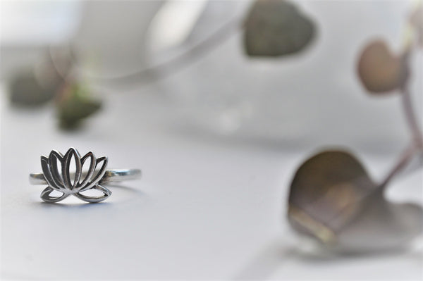 Lotus Ring Sterling Silver