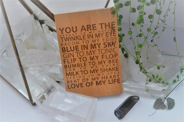 You Are The Flip to my Flop; Love of my Life Wooden Sign - perfect gift, cute shabby