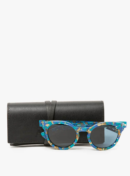 Bevelled Round Sunglasses