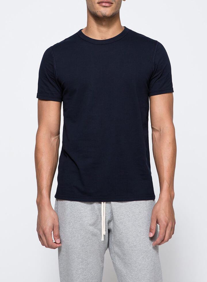 PETITE Washed Navy Tee