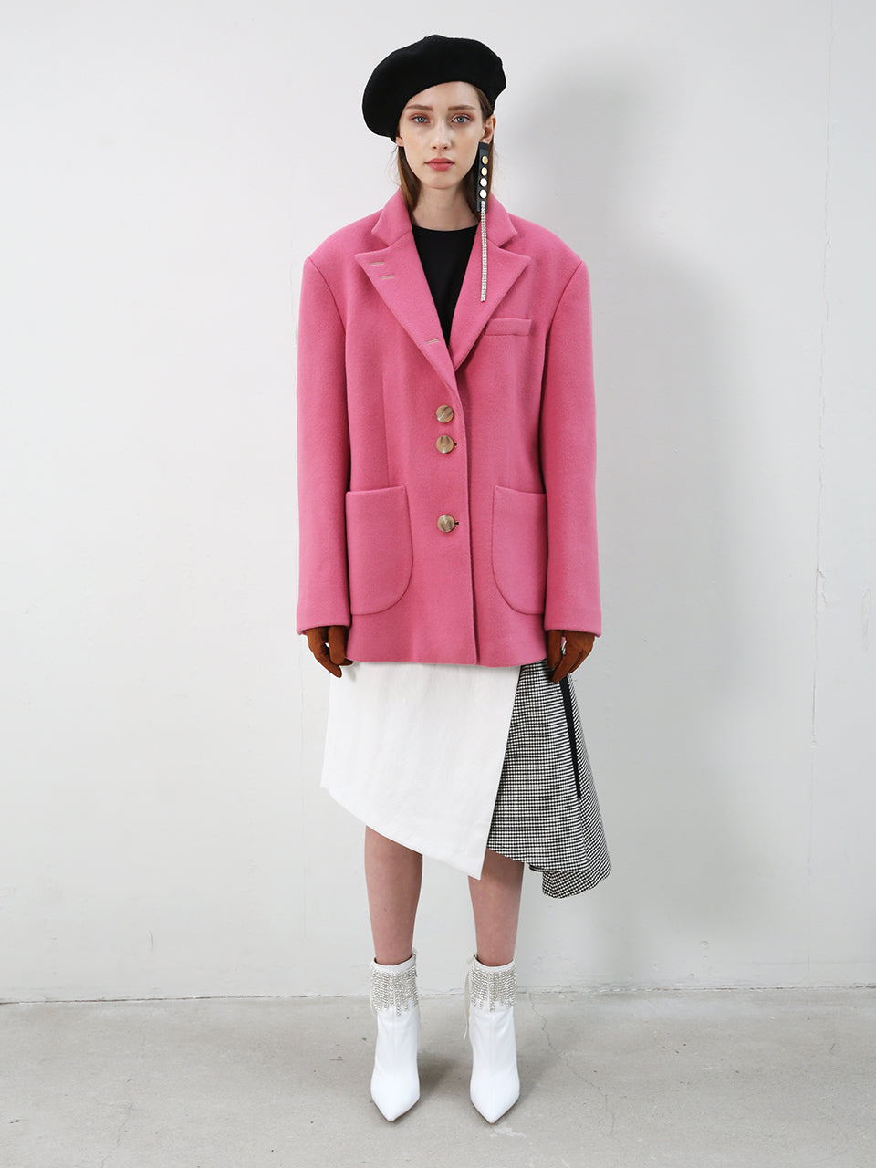 INES OVERSIZED COAT JACKET_PINK