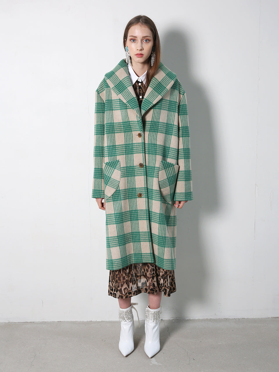 CAMILLE OVERSIZED WOOL & FUR COAT