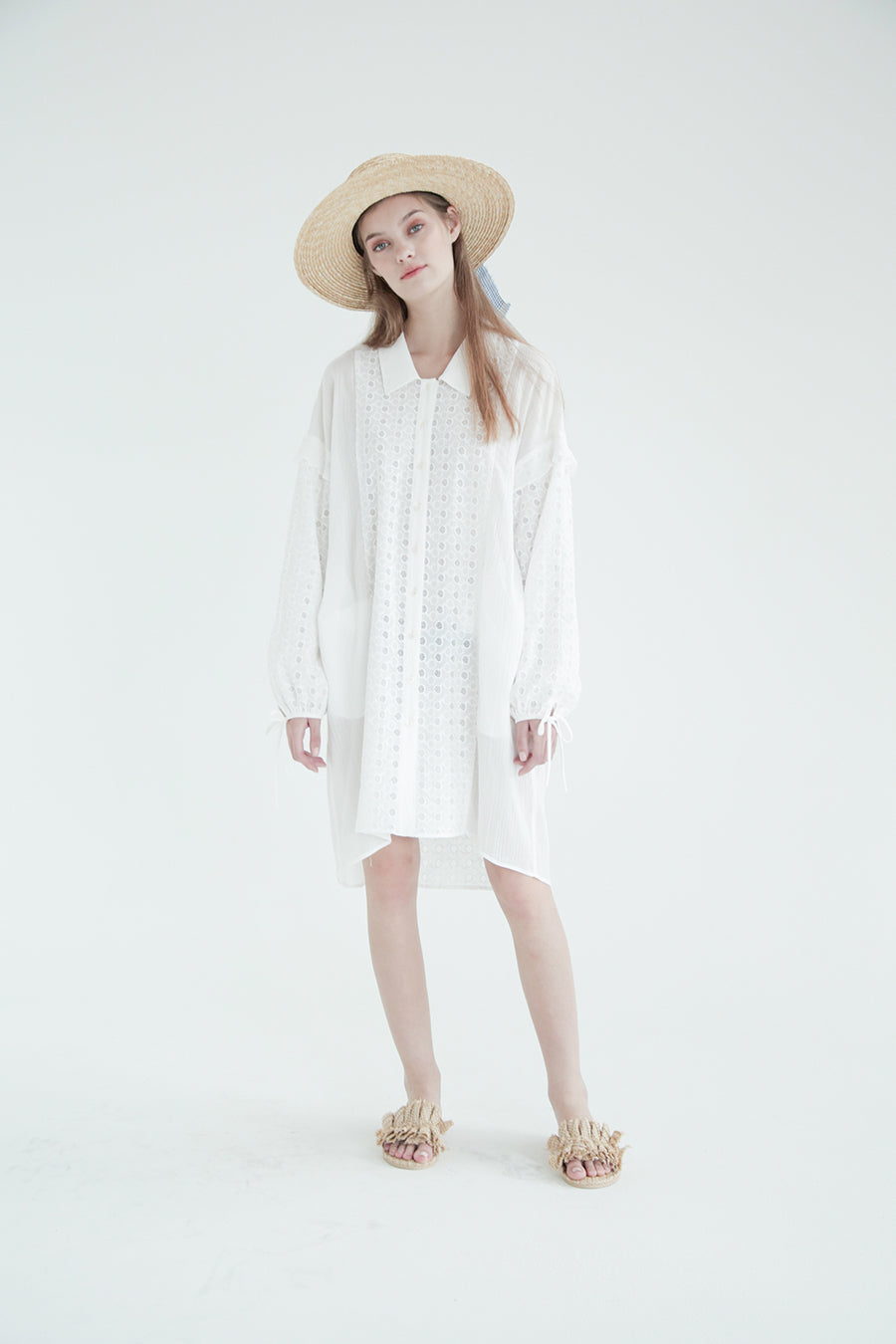 [SELF-LOVE] DAKOTA OVERSIZED COTTON SHIRT TUNIC