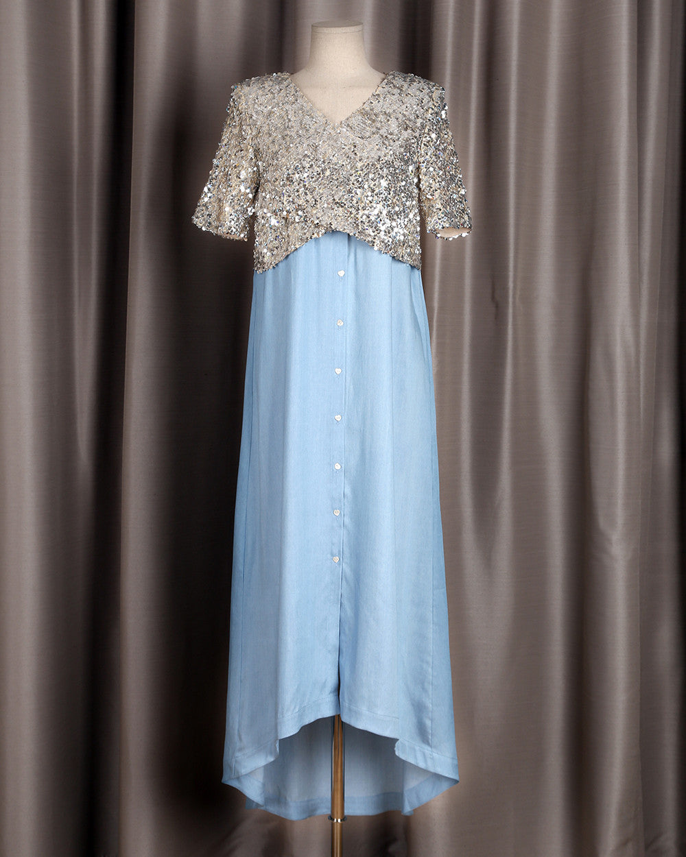 JAMIE sequins top long shirt dress