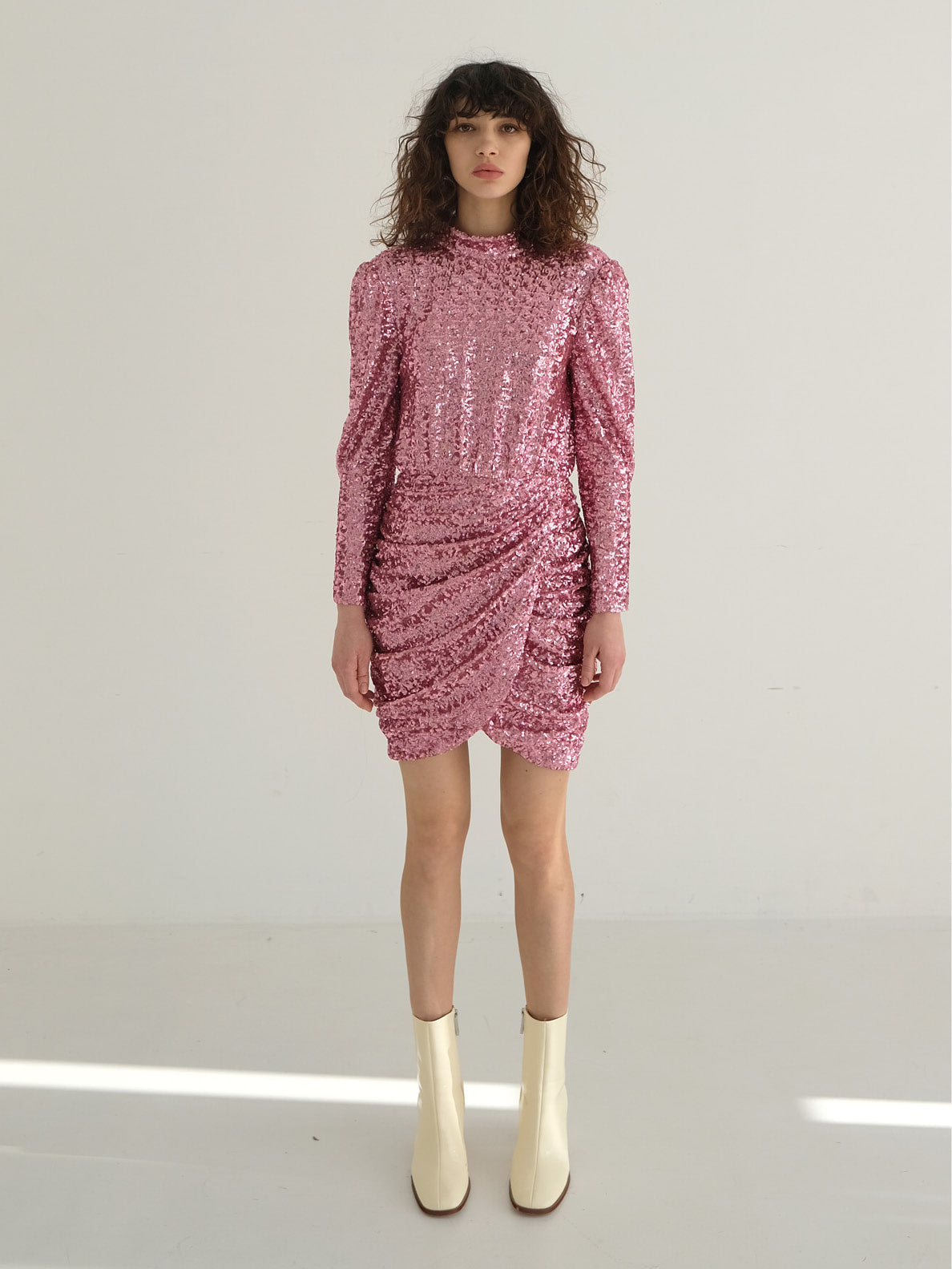 ROSE BACKLESS SEQUINED DRESS