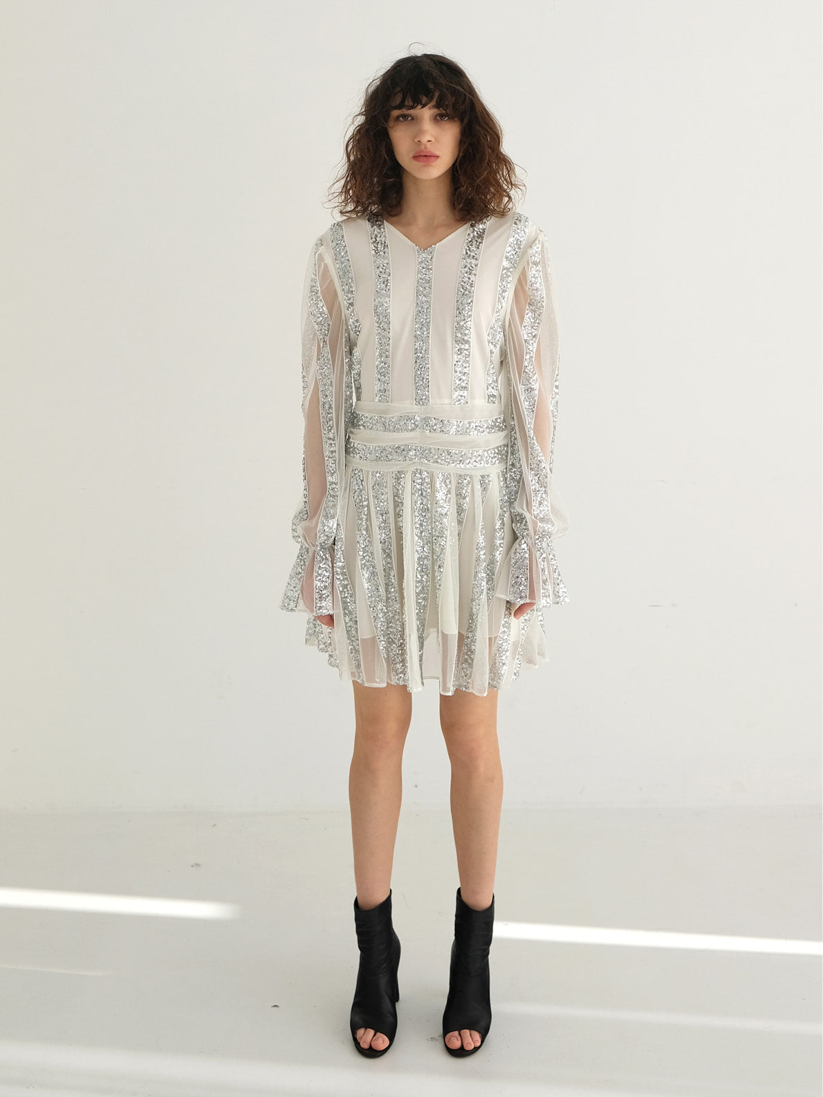 VALERIA SHEER SEQUINED DRESS