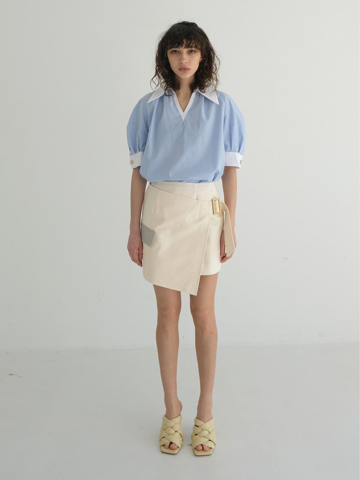 CHARLIE WRAP MINI SKIRT_CREAM