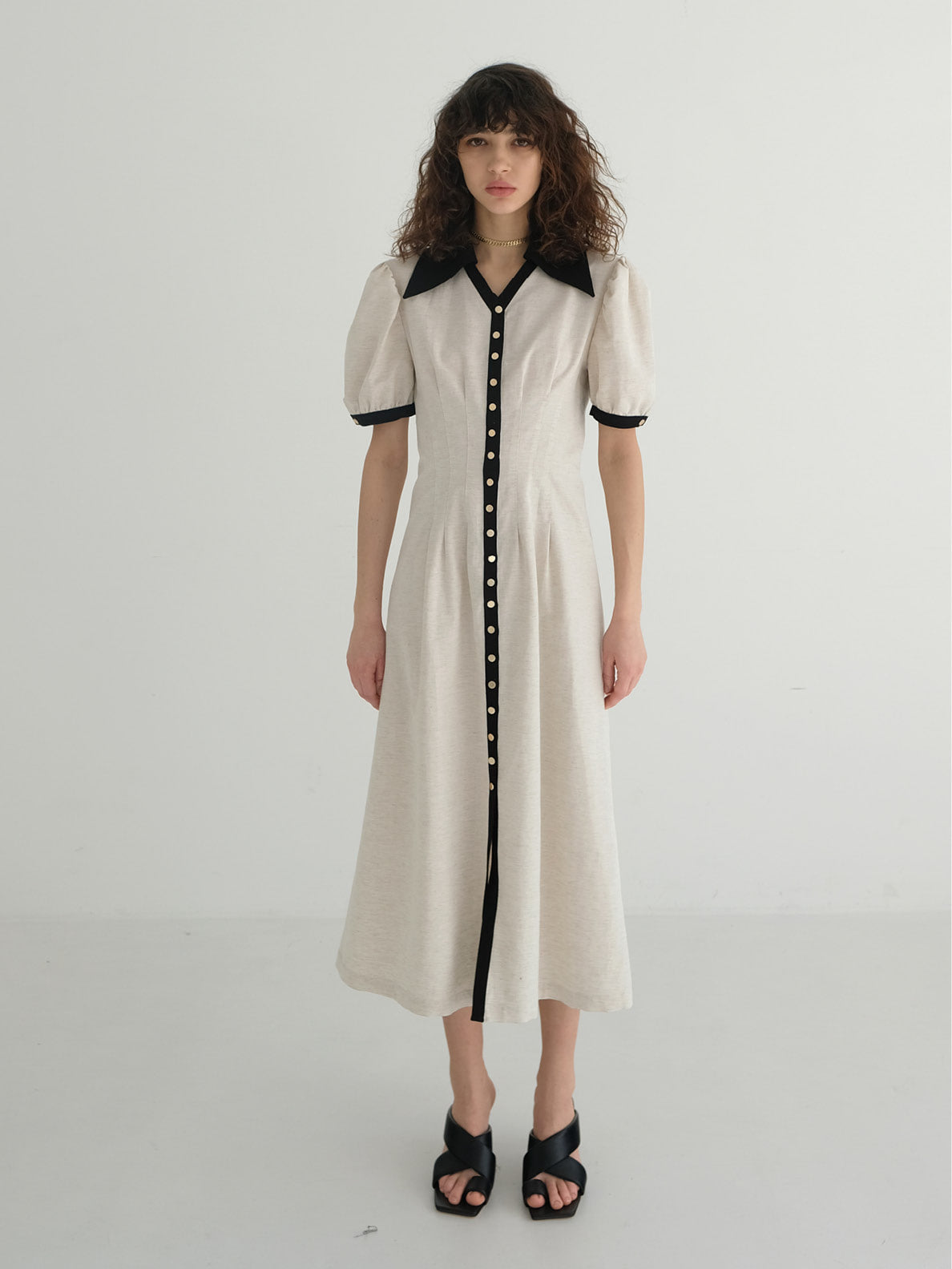 ERIN COLLAR MIDI DRESS