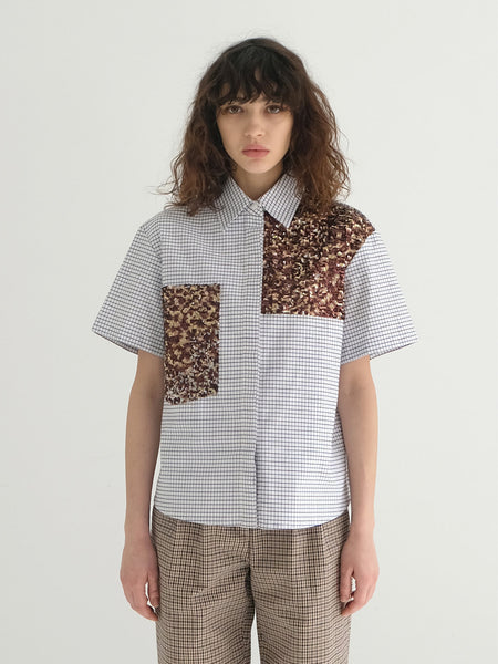CHRIS SEQUINED CHECK SHIRT