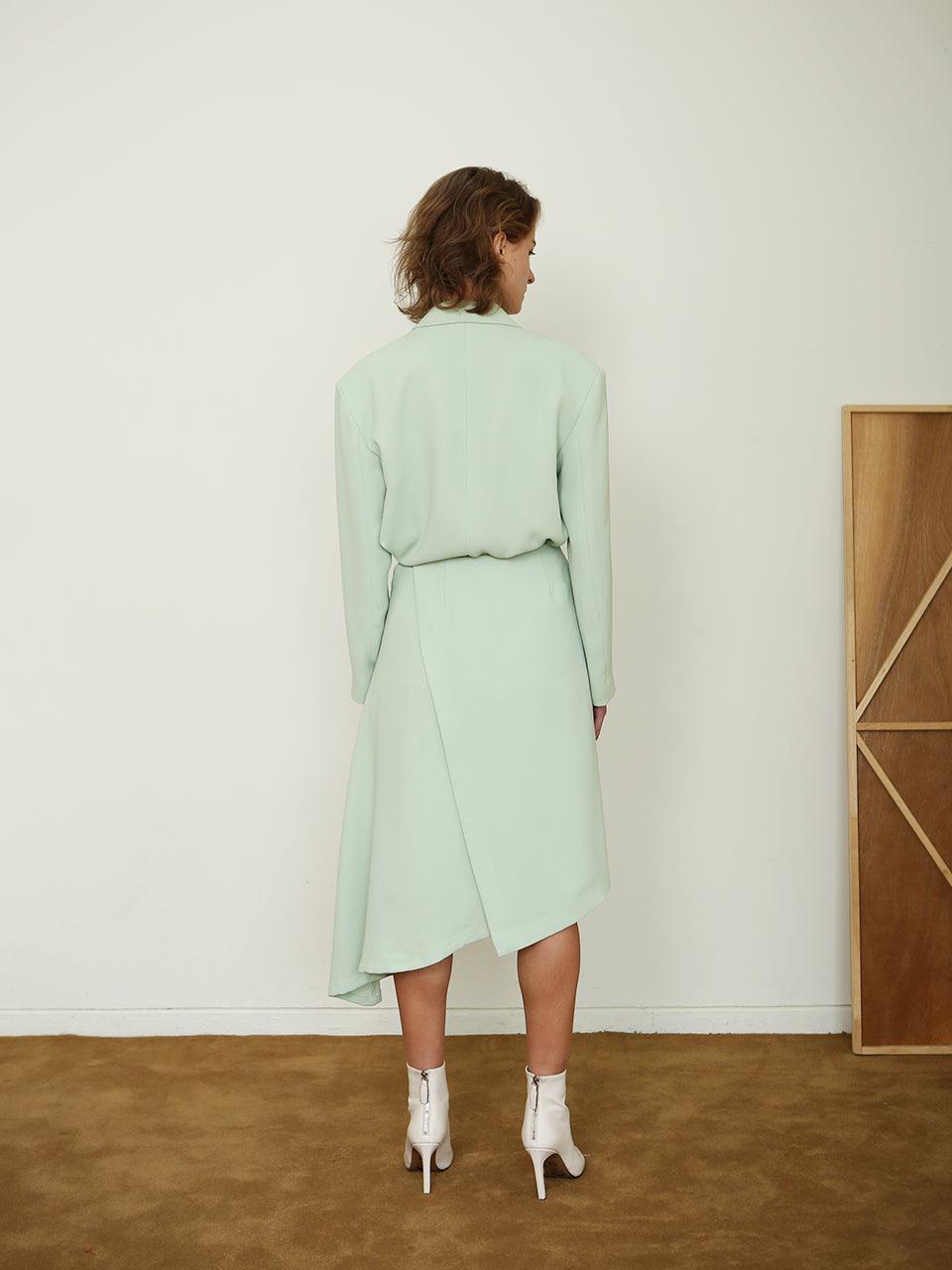 SEINE WRAP SKIRT_MINT