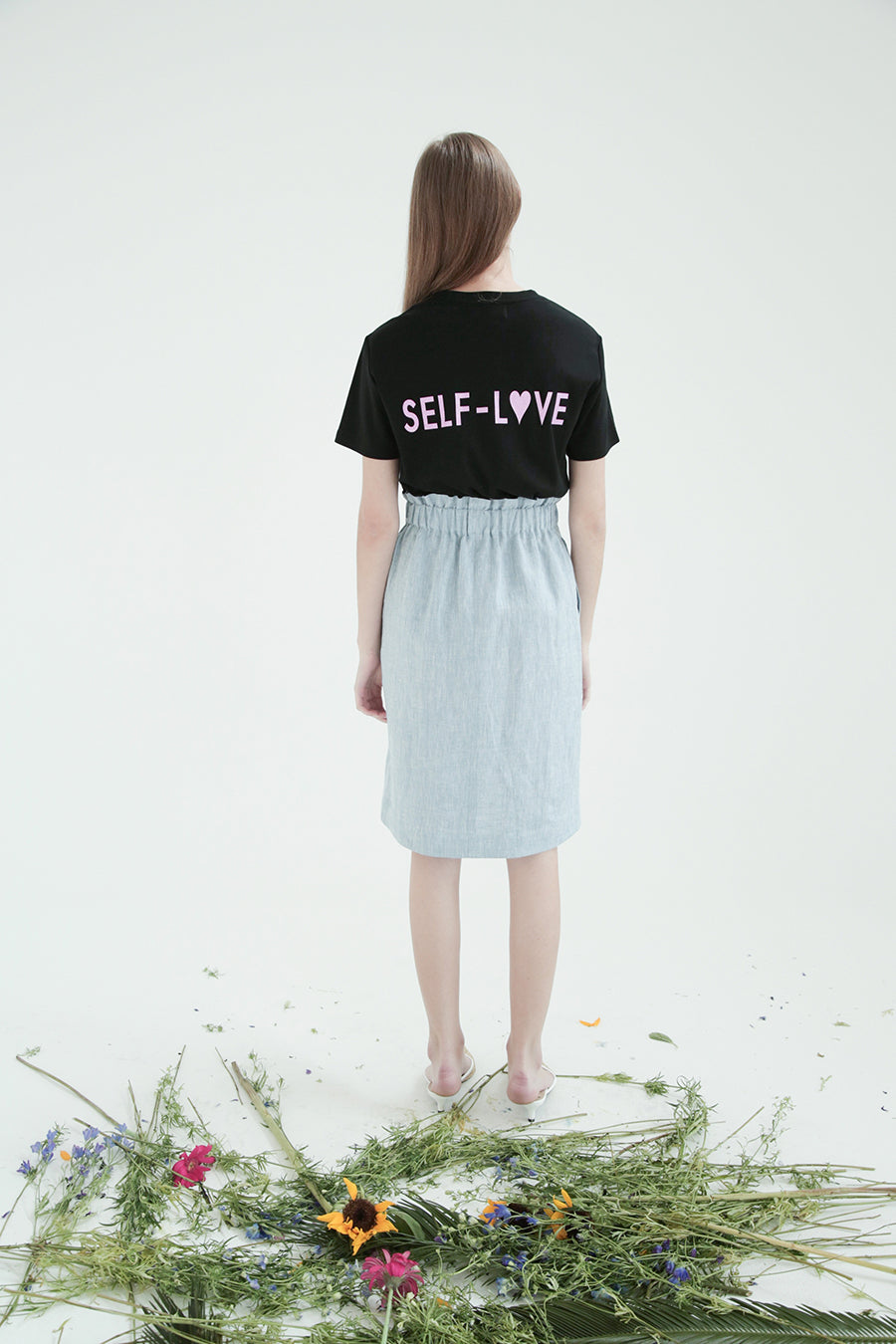 [SELF-LOVE] LOGO T SHIRT_BLACK
