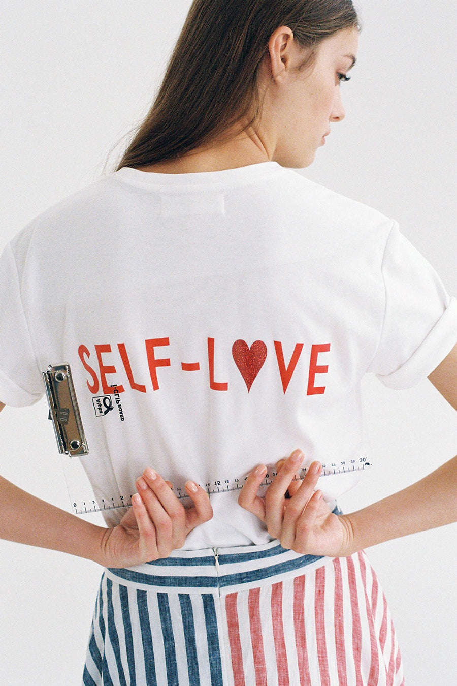 [SELF-LOVE] LOGO T SHIRT_WHITE