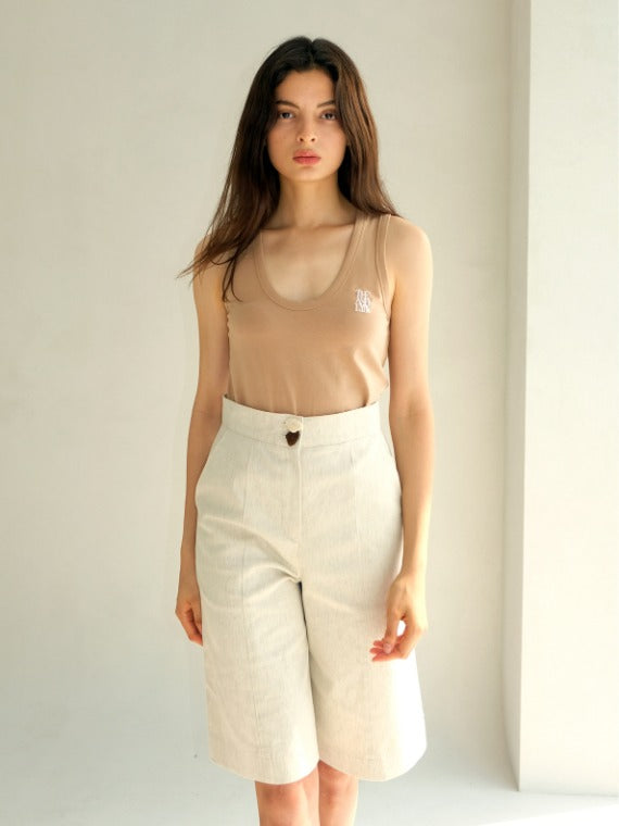 BERRY HIGHWAISTED SHORTS_IVORY