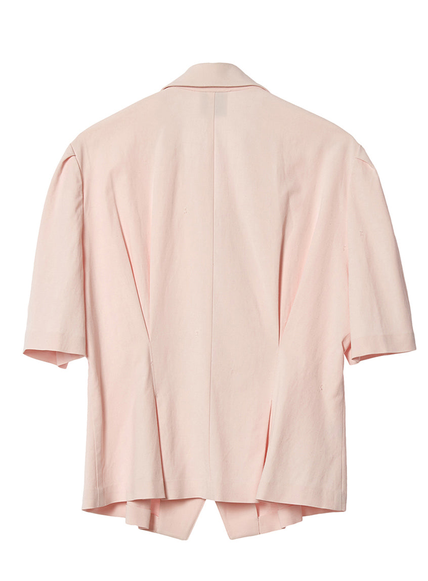 JOLIE UNBALANCED COLLAR  BLOUSE_PINK