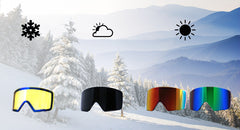 Pack Gafa Woods Black - Sky / Black + Lente Foggy Yellow - Nui Optics