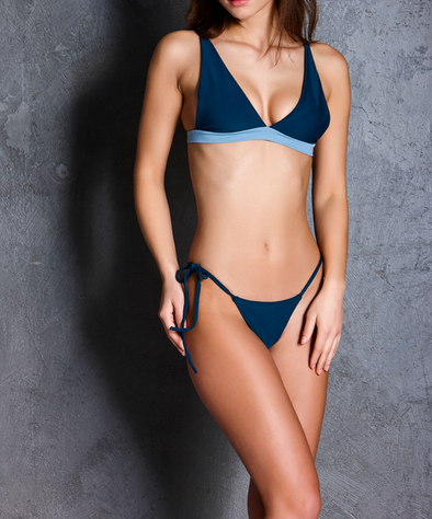 SKY TOP - COCO BOTTOM NAVY BLUE