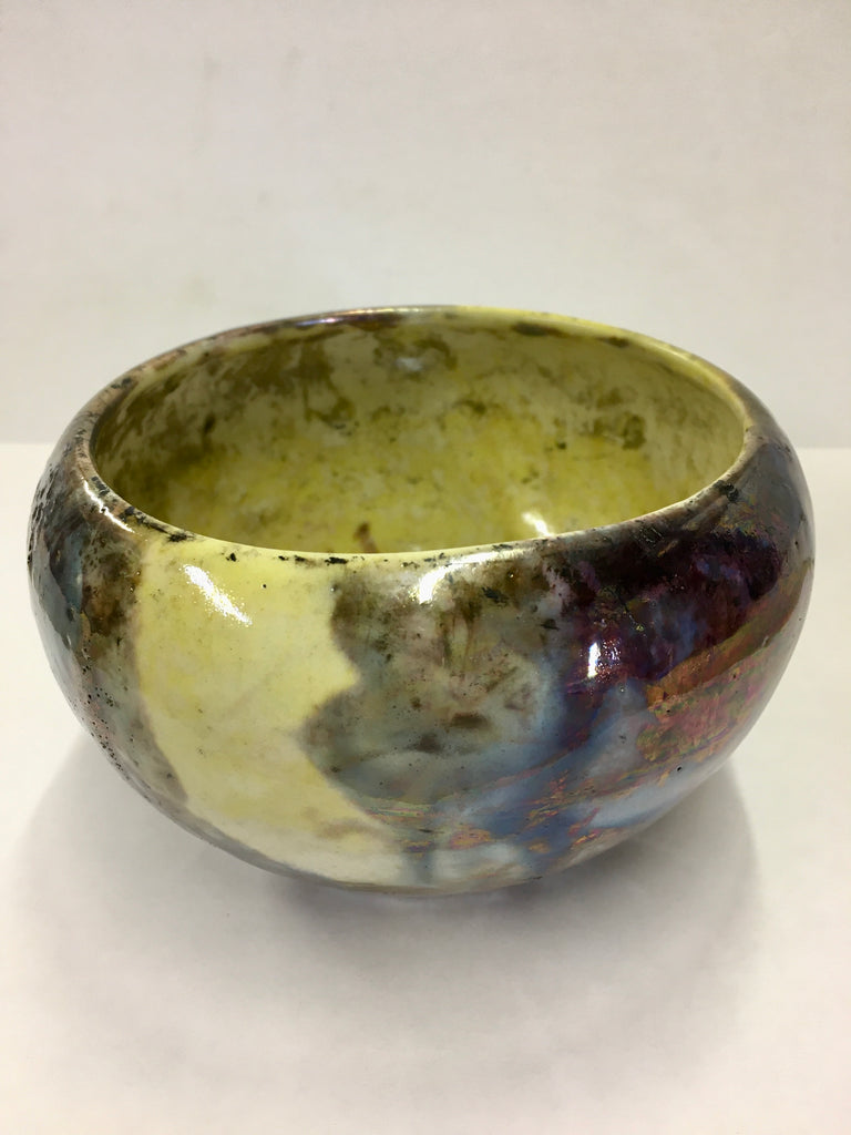 "Ziggy Stardust Gold Raku 5"" bowl"