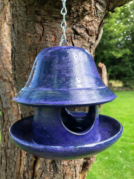 Purple Clarence bird feeder