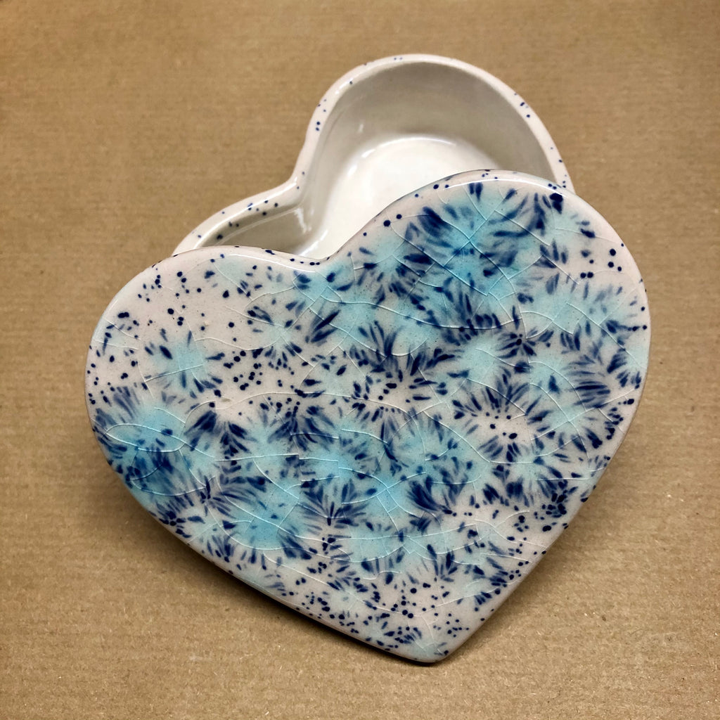 Heart small trinket box - Blue Orchid