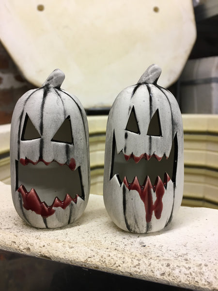 Extra Angry Ghost 👻 Mini Pumpkins- with blood