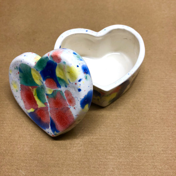 Heart small deep trinket box - Lucy in the sky with diamonds