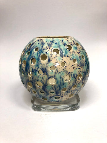 Illumination Sphere - Blue Orchid - Tea Light