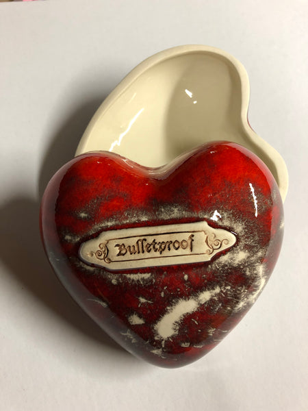 Bulletproof Heart shaped box Red