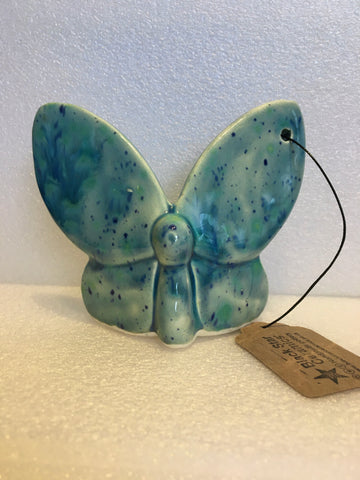 Butterfly Christmas decoration - Rhapsody in Blue
