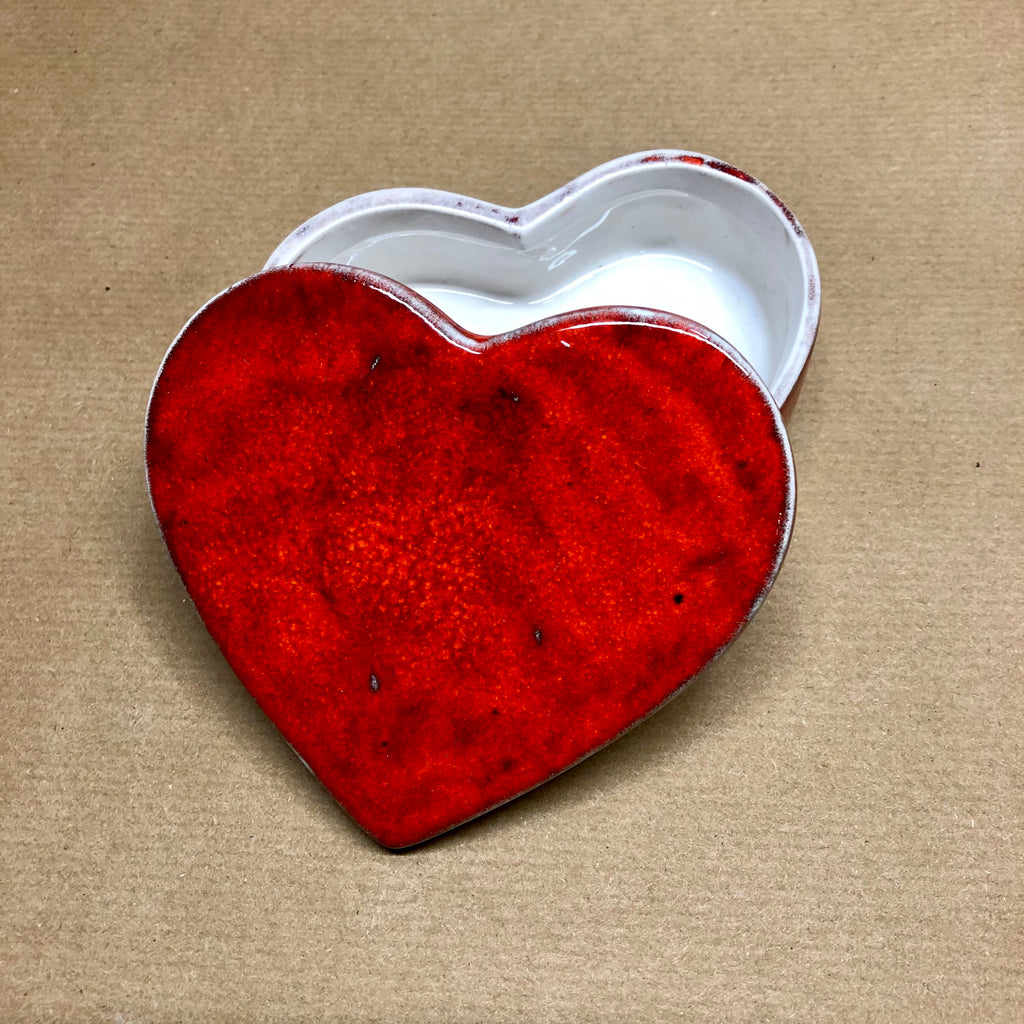 Heart medium trinket box - Cherry bomb 🍒