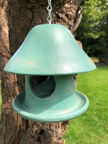 Turquoise Clarence bird feeder