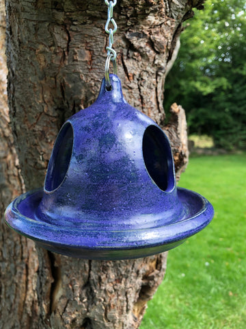 Purple Chuck bird feeder