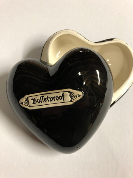 Bulletproof Heart shaped box Black