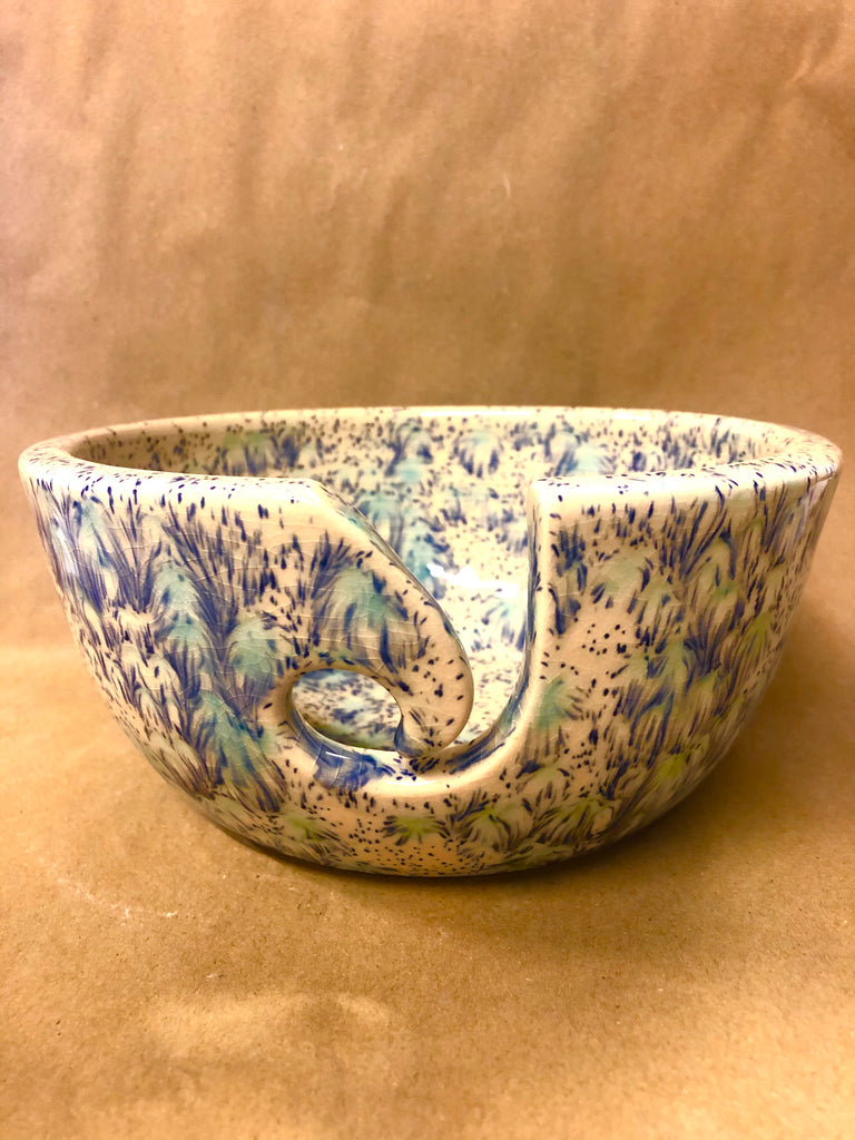 Large Yarn Bowl - Blue Orchid