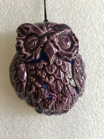 Owl Christmas decoration - Purple Rain