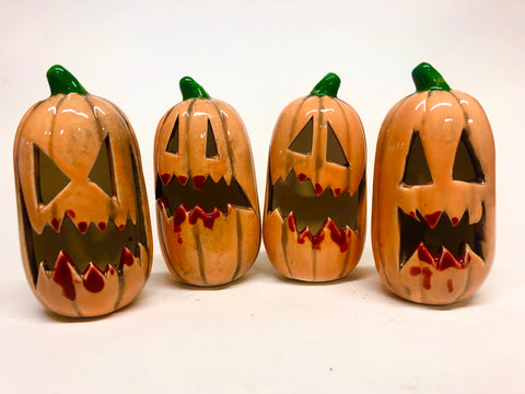 Extra Angry Mini Pumpkins- with blood