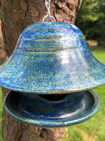 Blue Clarence bird feeder