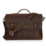 Kattee Genuine Leather Messenger Bag Tote, Leisure 15 Inch Laptop Briefcase